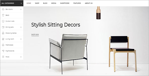 Online Furniture Store Woocommerce Template