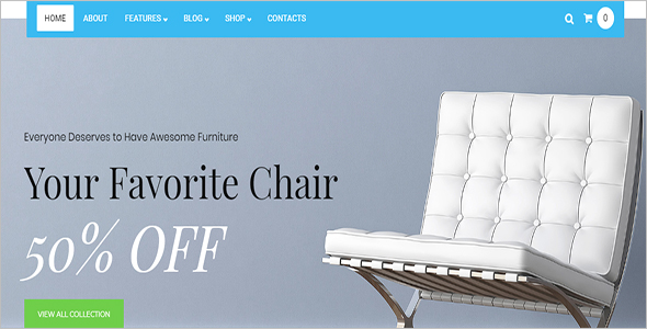 Online Furniture Woocommerce Template