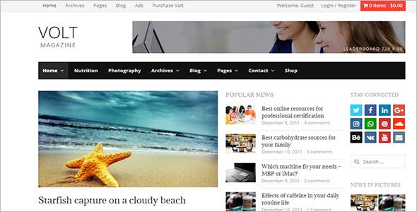 Online Newspaper WordPress Theme