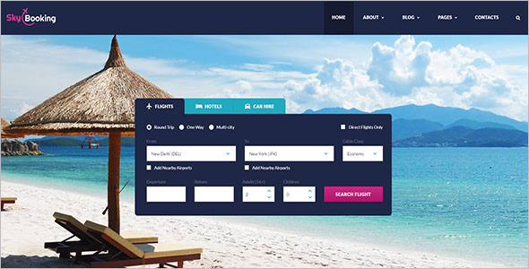 Online Resort Reservation Website Template