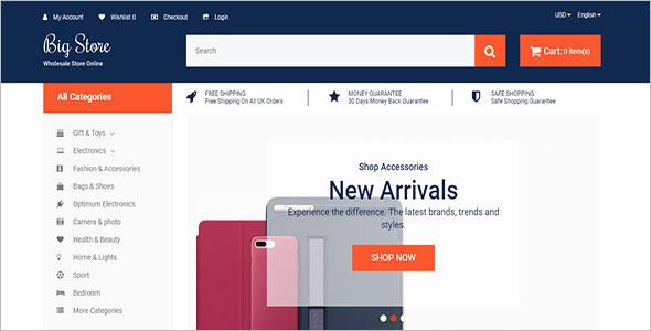 Online Store Open Cart Theme