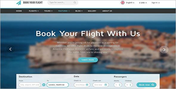 Online Tour & Travel Website Template