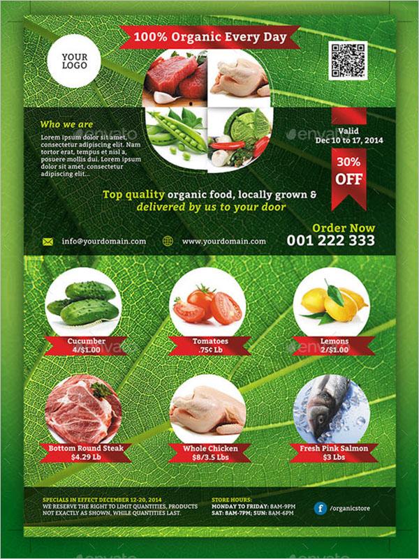 Organic Foods Flyer Template