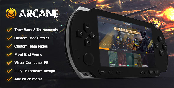 PHP Gaming Website Template