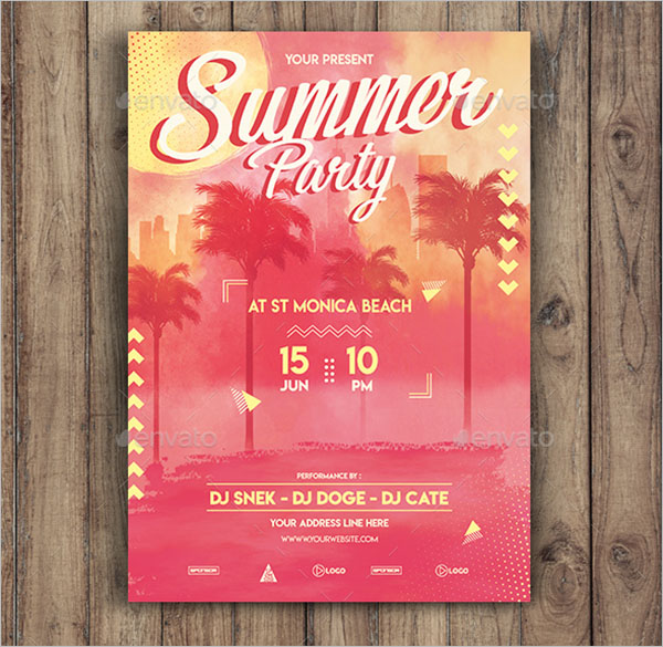48 summer party flyer templates free word psd designs