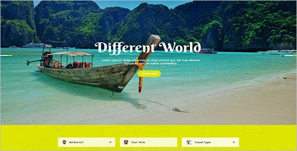 PSD Tour & Travel Website Template