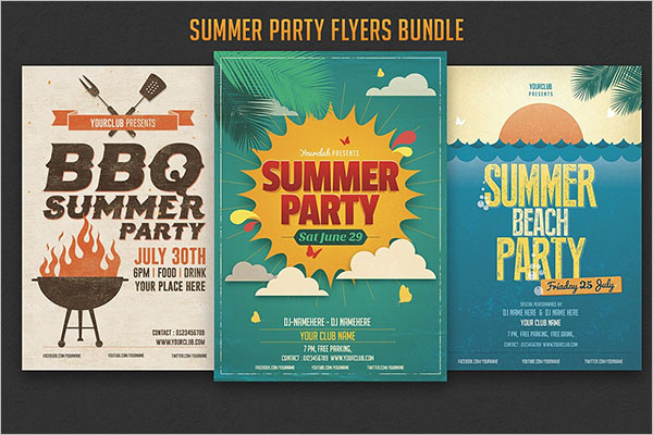 Pack Of Summer Party Flyer