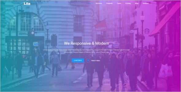 Parallax Bootstrap Theme