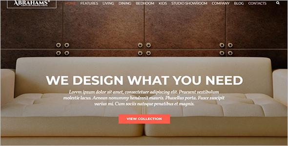 Parallax Interior Design Woocommerce Template