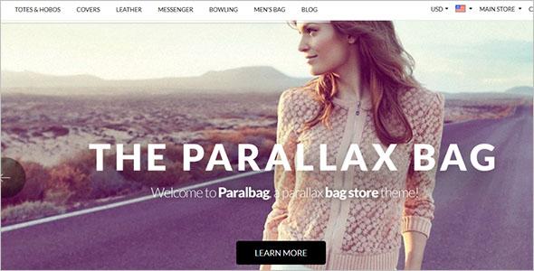Parallax Magento Template