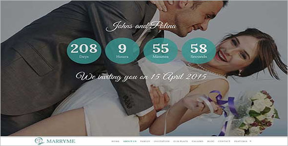 Parallax Wedding Bootstrap Template