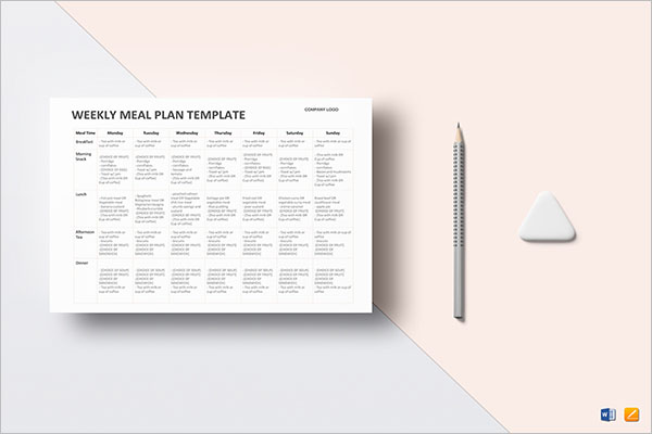 Party Meal Planning Template