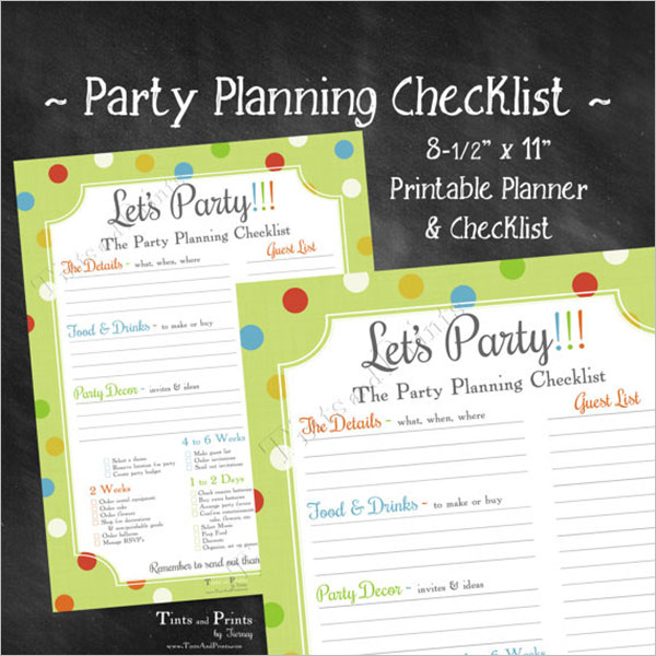 Party Planning Checklist PDF Template