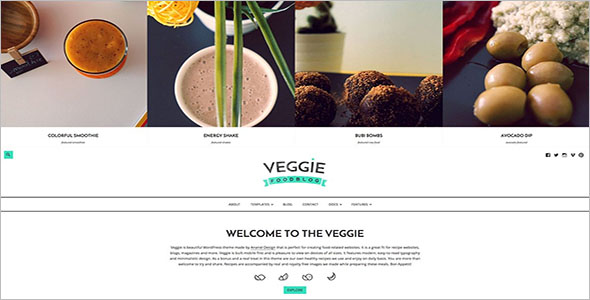 Perfect Food Blog WordPress Theme