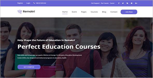Perfect School Website Template