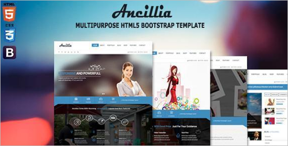 Personal Website Bootstrap Template