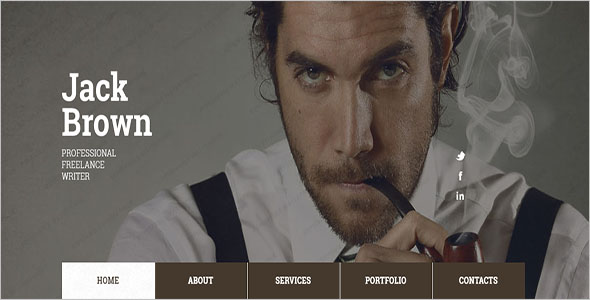 Personal Writer HTML5 Template