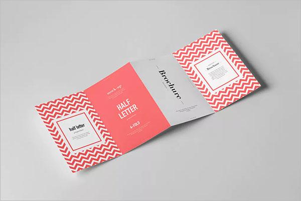 Photorealistic Half Fold Brochure Template
