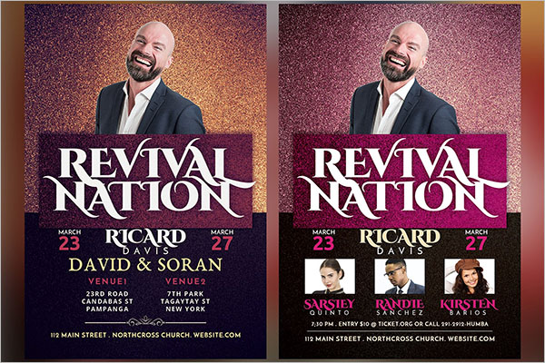 Photorealistic Revival Flyer Template