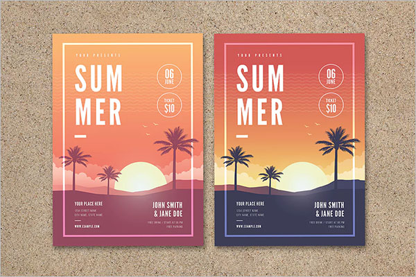 Photorealistic Summer Party Flyer Template