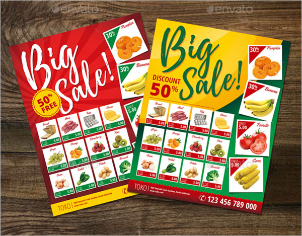 Photoshop Grocery Flyer Template