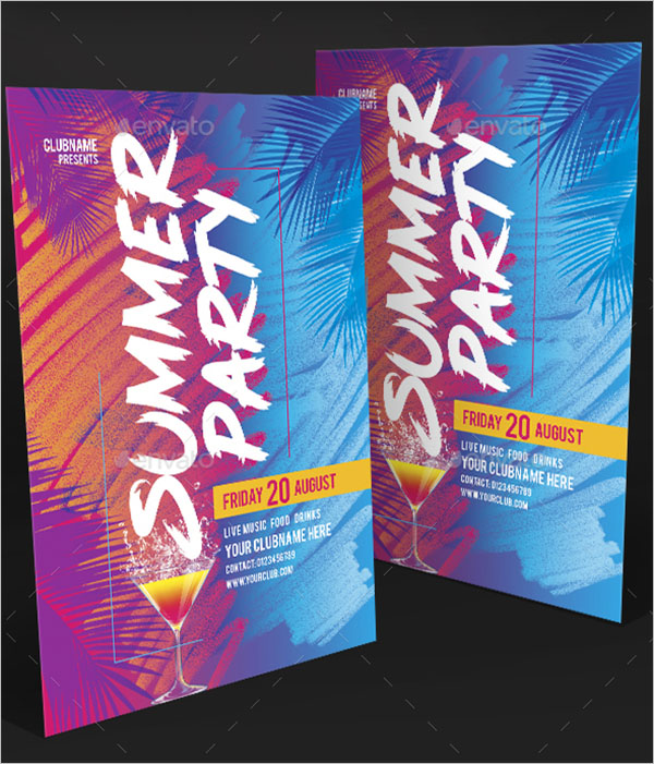 Photoshop Summer Party Flyer Template