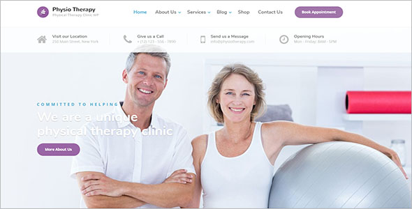 Physiotherapy & Chiropractor Clinic WordPress Theme