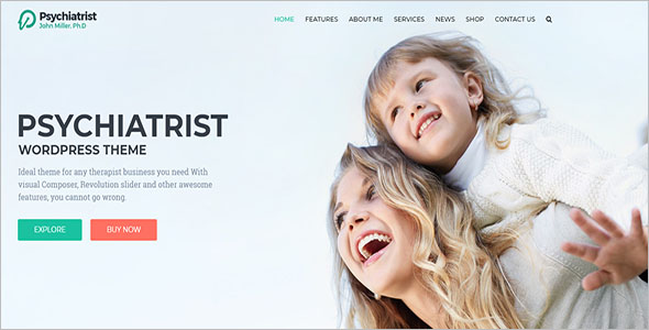 Physiotherapy & Chiropractor Counseling WordPress Theme