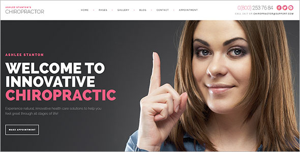 Physiotherapy & Chiropractor WordPress PSD Template