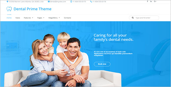 Physiotherapy & Chiropractor WordPress Template