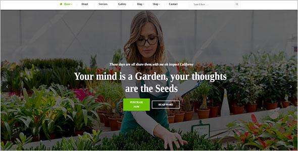 Plant Nursery Blog Template