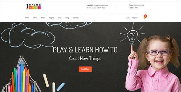 Play School Website Template