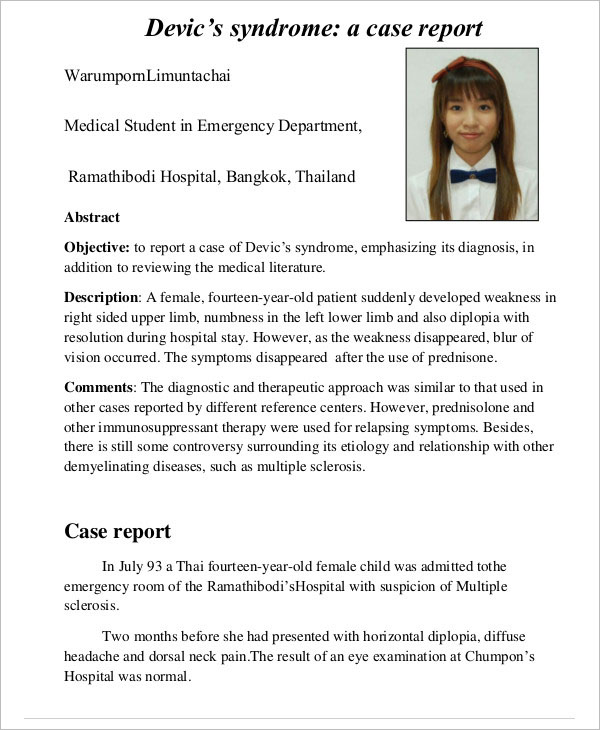 Police Medical Report Template