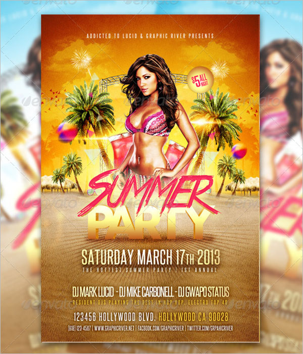 Pool PartyFlyer Template