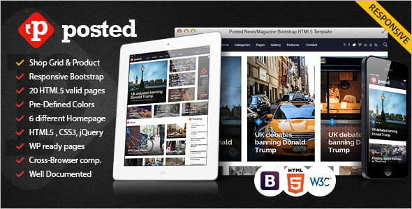 Popular News Bootstrap Template