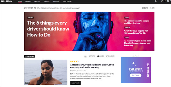 Portfolio Newspaper WordPress Theme