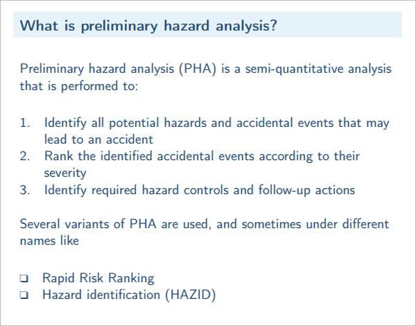 Preliminary Hazard Analysis Template