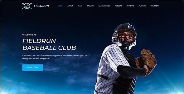 Premium Baseball Website Template