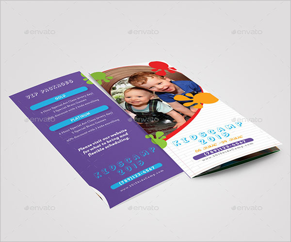 Preschool Camp Brochure Template