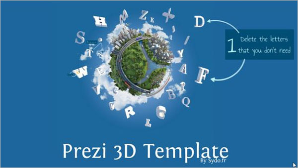 Prezi 3D Template