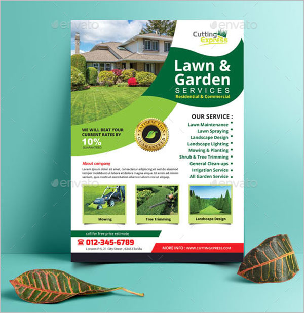 Printable Lawn Care Flyer Template