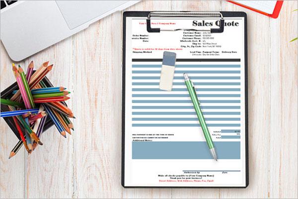 Printable Sales Order Template
