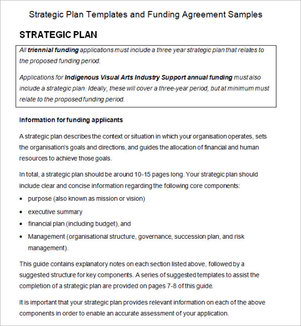 Printable Strategic Plan Template