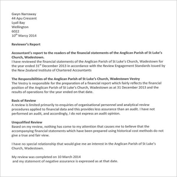 Printable Treasurer Report Template