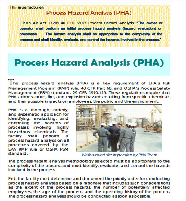 Process Hazard Analysis Word