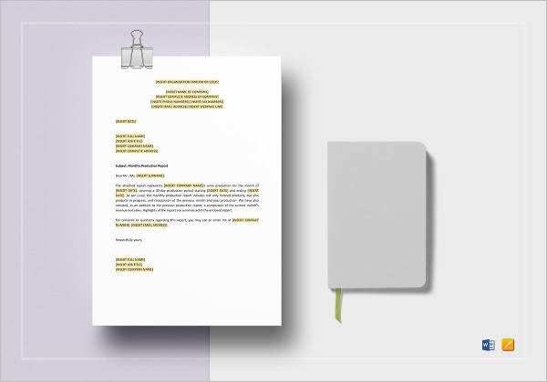 Production Report Template Word