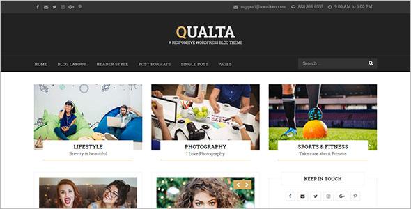 Professional Food Blog WordPress Theme