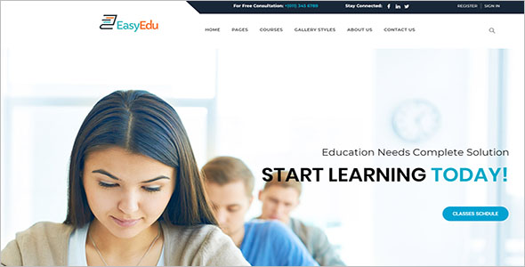 Professional School Website Template