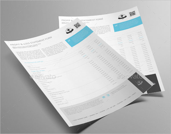 Profit & Loss Statement Form