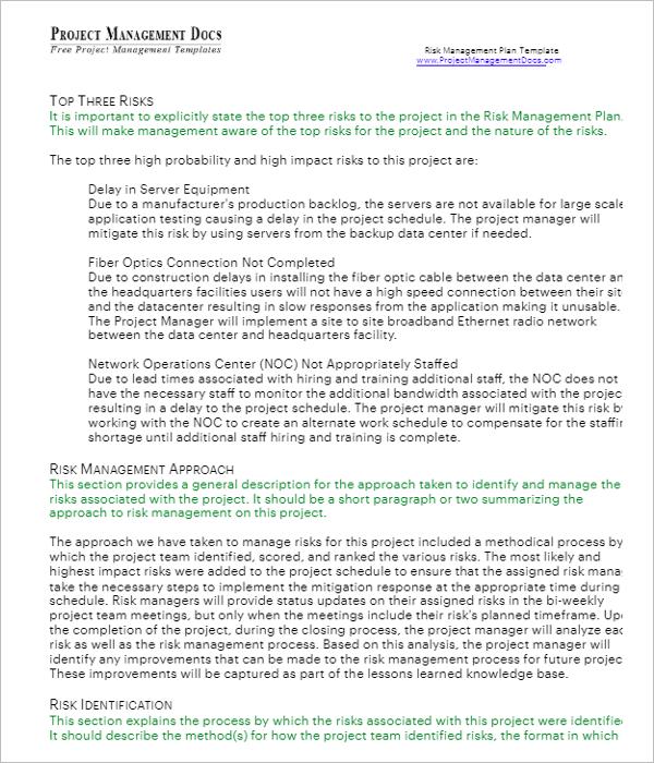 Project Environmental Management Plan Template